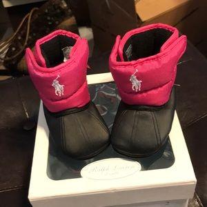 Ralph Lauren Velcro boots infant 2